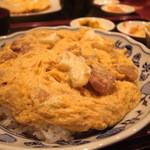 AMET - 鳥丼 (モモ肉一枚) サラダ・味噌汁・キムチ・あと一品付き (800円)