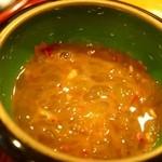 寿し安 - ボタン海老の味噌を塩辛にしたもの