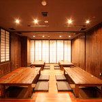 麦酒蔵 hideji 和厨房 - 大広間(最大40名様収容) 人数に合わせ仕切り調整ができます。