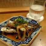 食堂ほかげ - イワシと葱の生姜煮