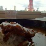 港区役所 レストランポート - カツカレー490 大盛り90 東京タワーは、プライスレス