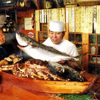 漁火自慢のお刺身でご賞味ください。