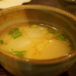 花百咲 - 美味しい味噌汁は、冬瓜と厚揚げです