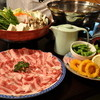 善兵衛 - 料理写真:小宴会プラン お肉・うどん食べ放題です(写真は豚しゃぶ)