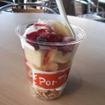 PorT's - 料理写真:シフォンケーキが入った、シフォンフルーツ。