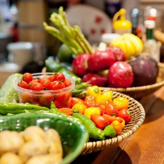 野菜がメインのお料理が自慢