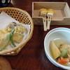 祇園円山 かがり火 - 料理写真:野菜の天婦羅、味噌田楽、野菜とがんもどきの煮物です。