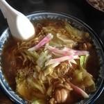 釜彦 - スープ入焼きそば700円