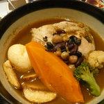 一灯庵 - 豆スープチキンカレー