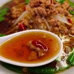 四川料理 長楽 - ピリ辛で濃いめのスープ