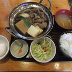 金太郎 - 牛鍋(すき焼き)定食