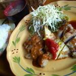 街の洋食屋 ラパン - 日替りランチA豚肉のカツレツ&とうきびのガガレット添え 787円 2013/10
