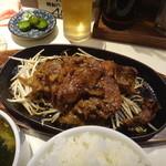ぱっぷHOUSE - 鉄板焼肉定食 お肉1.5倍