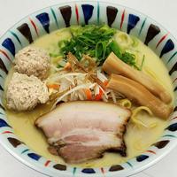 元喜神 - 鶏白湯らーめん 650円 白濁した鶏スープの濃厚コク旨ラーメン