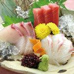 とうあん - 鮮魚のお造り三品盛り