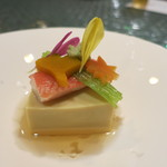日本料理 オカモト - かにみそ豆腐は秋の風情