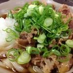 桜製麺 - 肉ぶっかけ(490円)