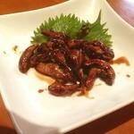 大門 - 肝焼き500円。生きた鰻10尾分てことで、要予約。