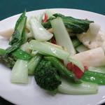 ホテル日航成田 - おやすみごはん 彩り野菜の炒め 南瓜 ブロッコリー カリフラワー アスパラなど10種以上の地場野菜  白飯 タピオカミルク
