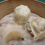 ホテル日航成田 - おやすみごはん 点心3種盛合せ シュウマイ2種 海老蒸し餃子