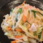 裕とん - 長崎風焼きそば。 麺がこんがりモチモチ。写真で表現し難いのが残念。