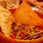 デンズカフェ - 木ノ娘と揚げ湯葉のパリパリサラダ