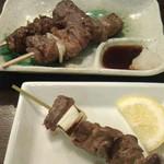 22050221 - 焼き肉串(上からカルビ、ハラミ、タン)