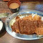 まるしま - 大判トンカツ定食 750円
