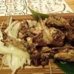 嬉らく人 - 珍しい鶏の松葉の塩焼き