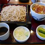 油や - 【もりそばヒレ丼】¥990