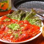 玉一 - 豪快に焼きながら食べる『ヤンニョン豚カルビ』