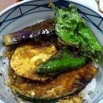 そば処きく池 - そば処 きく池 @板橋本町 野菜天丼セットのミニ野菜丼