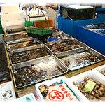 イルチッチォーネ - 仕入先の山治さんではそれぞれお魚や貝類等担当の専門家がいて、旬のお魚で溢れています。