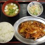 連 - 料理写真:豚キムチ定食