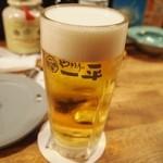 やきとりの一平 - 普通の生ビール