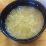 武蔵野天ぷら道場 - 天丼に付いてくる味噌汁