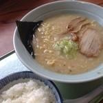笹寿し - 今日の昼!笹寿司、塩ラーメンvsライス。ごちそうさまー( ̄Д ̄)ノ