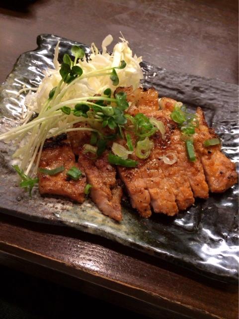 ほおずき - たちコレの逸品 豚ロースの味噌漬け焼き 550円。
