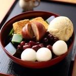 茶房いせはん - 料理写真:季節限定 丹波栗あんみつ