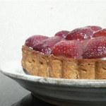 PetitれくCafe&ぽの - 料理写真:meau(ミャオ)のイチゴのタルト。ドリンクセットで500円