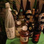 さこん - 焼酎からウイスキー、ブランデーまで各種ご用意しております。