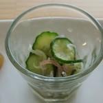 cafe ロス・オン・ワイ - じゃこと胡瓜の酢の物