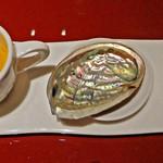 中国料理 XVIN - 雲丹の茶碗蒸し&霧島鶏のタタキ・鮑は一瞬で消えました