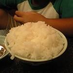 ふぐ泉 - 追加注文の白飯^^
