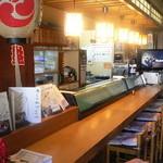 寿司の松川 - カウンター席