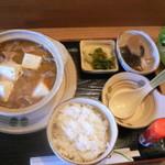 寿司の松川 - がんがん鍋定食(980円)