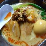 22091002 - 扶桑風鶏坦々麺+チャーシュー+味玉