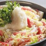 札幌ぶたやO38 - 豚肉と白菜のミルフィーユ鍋☆あったか生姜のヘルシーお鍋♪特製ポン酢で♪