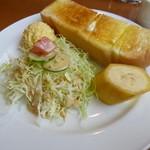 フェニックス - 料理写真:2013.10 パンは1/2ですが、サラダとバナナ付