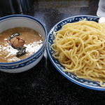 縁者 - つけ麺(大盛、煮卵)